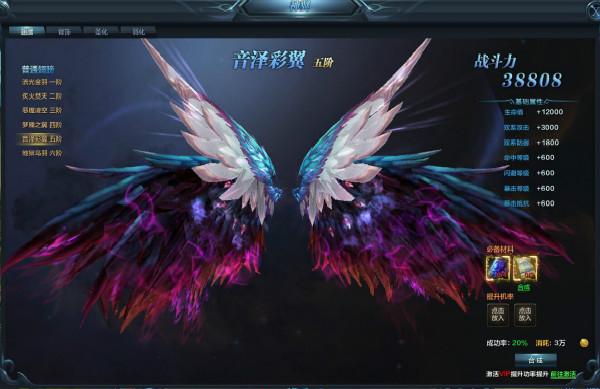 人魚傳說游戲神翼有幾個翅膀類型